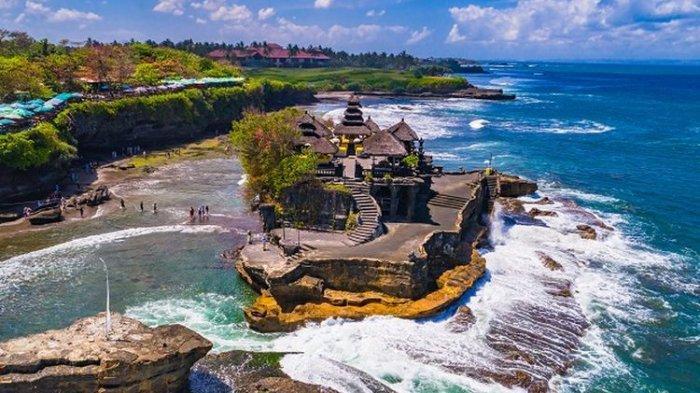 Ilustrasi Bali - Pura Tanah Lot.