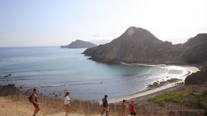 Jalur pendakian turis di Pulau Padar