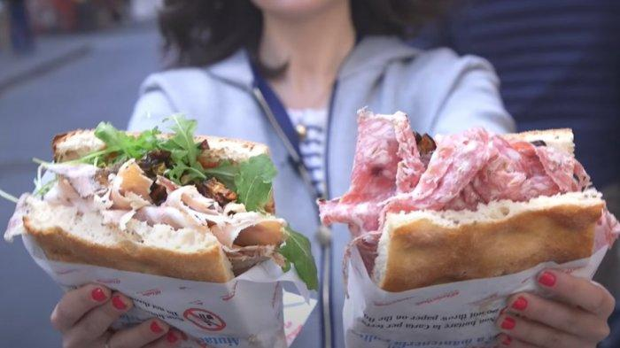 Saat Ke Florence Italia, Anda Wajib Coba Sandwich Legendaris Berukuran Besar Ini