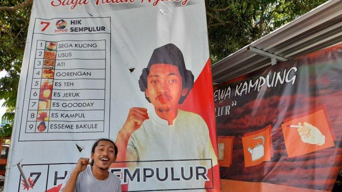 Viral Bakul HIK Bikin Baliho Bak Politisi Kampanye di Gemolong : 'Jangan Pilih, Saya Tidak Nyaleg'