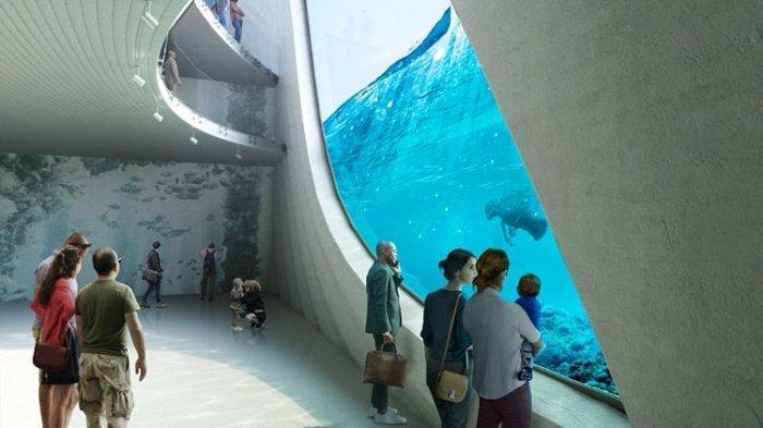 Desain observatorium laut Australia di ujung Busselton Jetty bernama Australian Underwater Discovery Centre (Baca Architects).(Baca Architects)