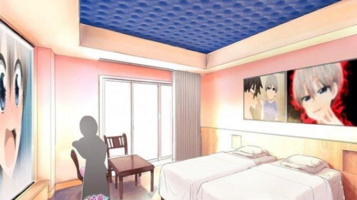 Salah satu bentuk kamar di EJ Anime Hotel