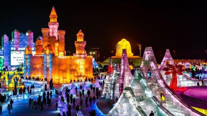 Masih Pandemi, Harbin Snow and Ice Festival ke-37 Tetap Diadakan