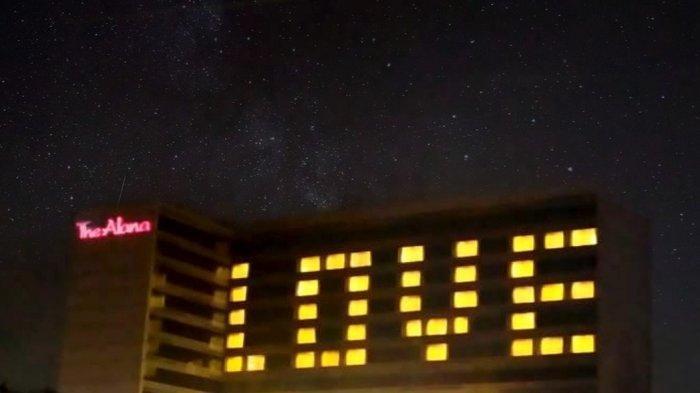 Tumbuhkan Rasa Cinta Kepada Masyarakat, Hotel di Solo Kirim Sinyal 'LOVE' Raksasa