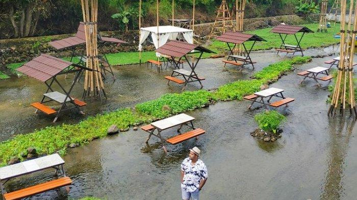 Ketjeh Resto Klaten : Restoran Unik, Pengunjung Bisa Makan Sembari Main Air