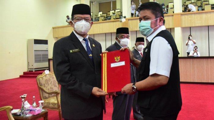 Gubernur Sumsel Herman Deru menyerang SK Plh Bupati OI Aufa Syahrizal, Rabu (17/2/2021).