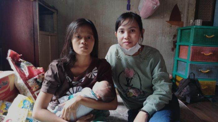 Dinda bersama anaknya dan Puput keluarga Dinda, Rabu (27/1/2021)