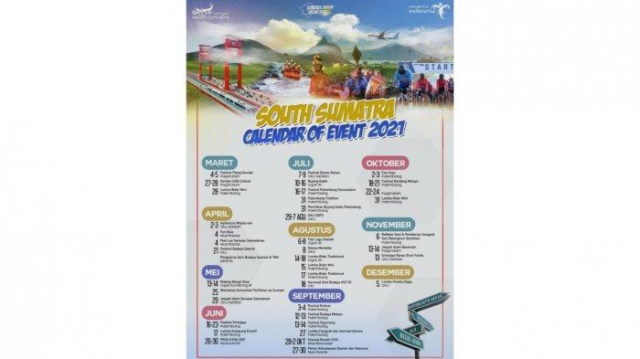 Kalender Event Pariwisata di Sumsel Tahun 2021.
