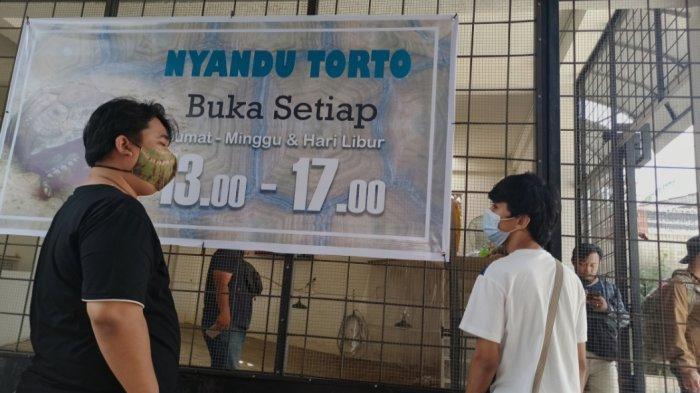 Nyandu Torto Turtle Farm yang ada di Jalan R Sukamto, Lorong Pancasari Palembang, Kamis (25/3/2021).