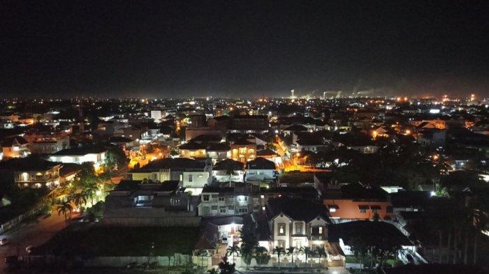 View dari ketinggian lantai 11 The Alts Hotel Palembang.