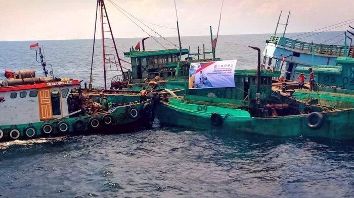 Akhir Masa Jabatan Menteri Susi Kembali Tangkap Kapal Asing Asal Malaysia Curi Ikan di Selat Malaka