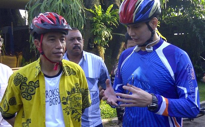 Gubernur Jokowi Pagi Ini Gowes Bareng Trans TV