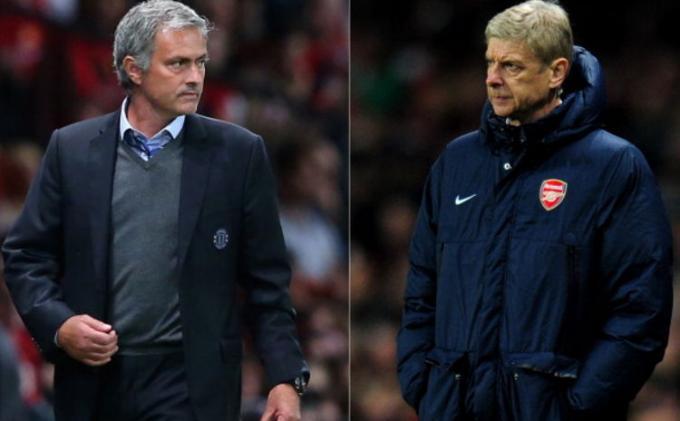 Tak Terima, Arsene Wenger Dorong Badan Jose Mourinho