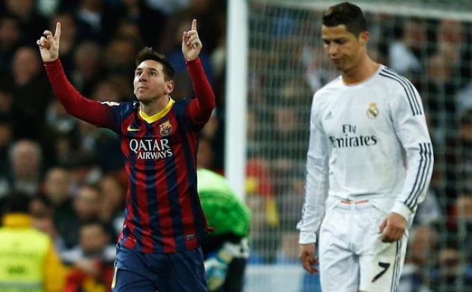 Lionel Messi Samakan Gol Ronaldo di Liga Champions