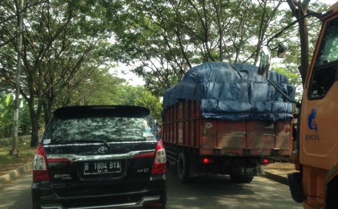 Pukul 10.16 Jalan Husein Sastranegara ke Rawa Bokor Macet