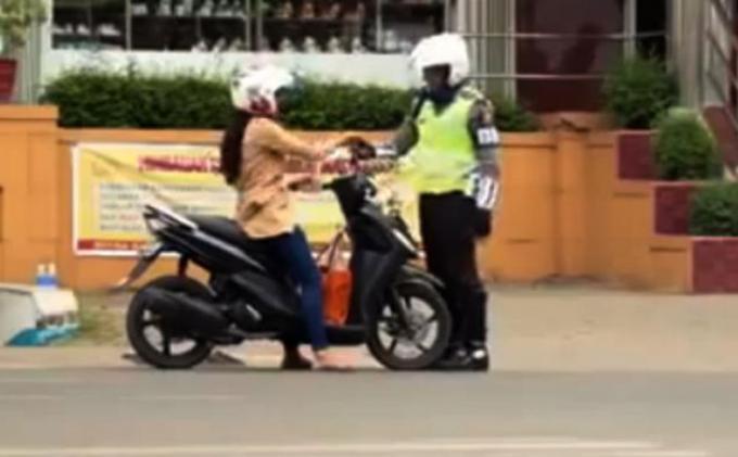 Polres Jakarta Barat Tilang 50 Motor dengan Knalpot Racing