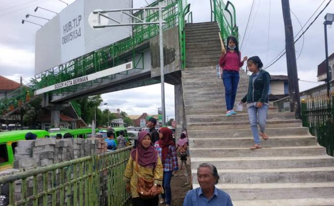 Terlalu Tinggi, JPO Paledang Kota Bogor  Direnovasi