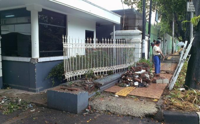 Pagar Rumah Moeldoko Segera Diperbaiki
