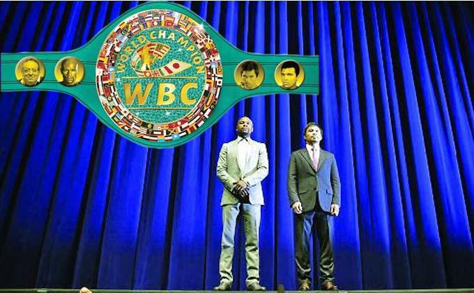 Wow, Harga Sabuk Juara Duel Mayweather-Pacquiao Rp13 Miliar
