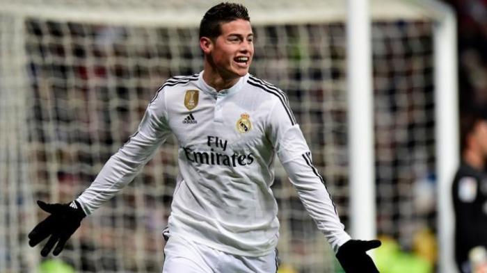 Gelandang Real Madrid James Rodriguez Buat Kejutan untuk Shannon de Lima