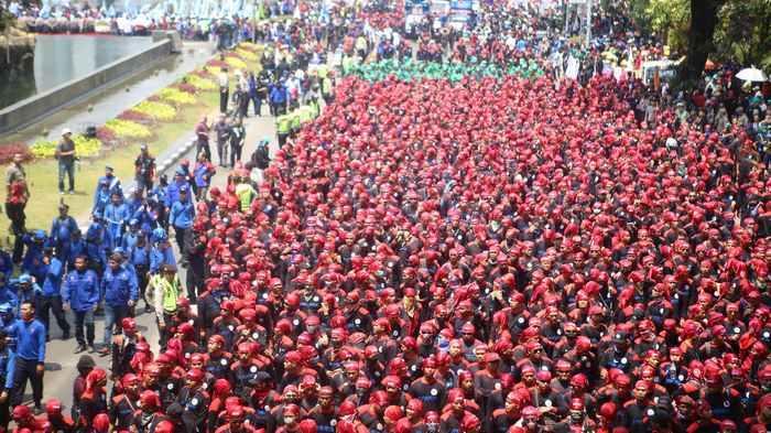 Polres Tangsel Pulangkan 80 Pelajar yang Terjaring saat Demo Buruh Menolak UU Cipta Kerja