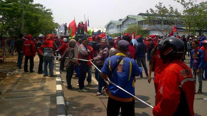 Kapolres Jakut Jamin kepada Buruh, Tidak akan Ada lagi Premanisme di KBN