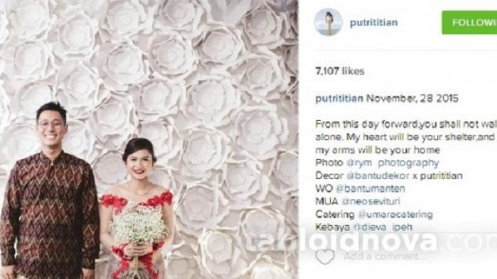 Wow, Putri Titian Senang Dilamar Junior Liem