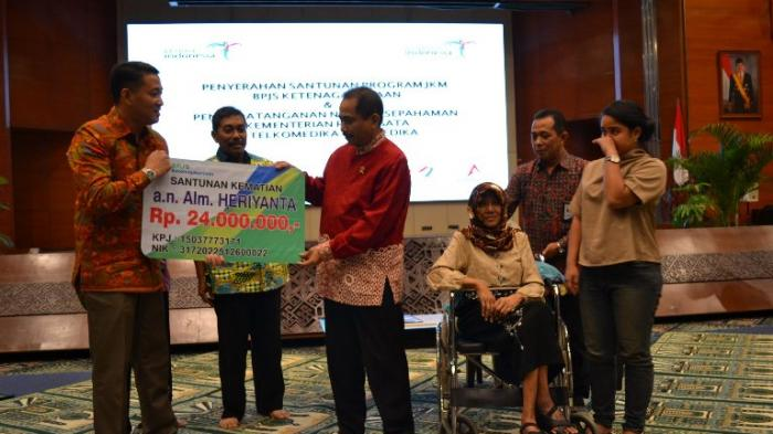 BPJS Ketenagakerjaan Berikan Santunan JKM di Kementerian Pariwisata