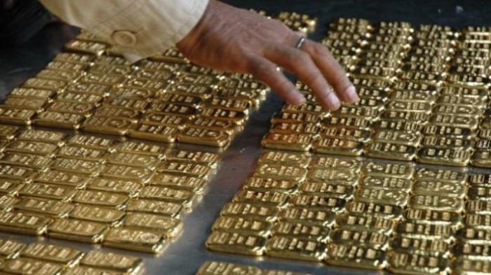 Ilustrasi: emas batangan.