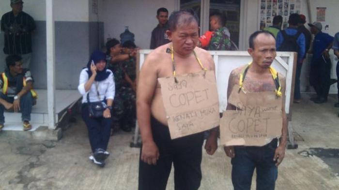 Biar Kapok, Dua Pencopet Dipajang di Stasiun Manggarai