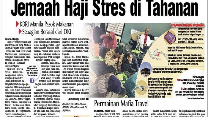 Jemaah Haji Indonesia Stres di Tahanan Imigrasi Filipinan