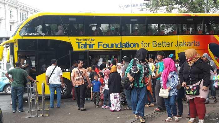 Libur Natal Pengguna Bus Wisata Jakarta Meningkat