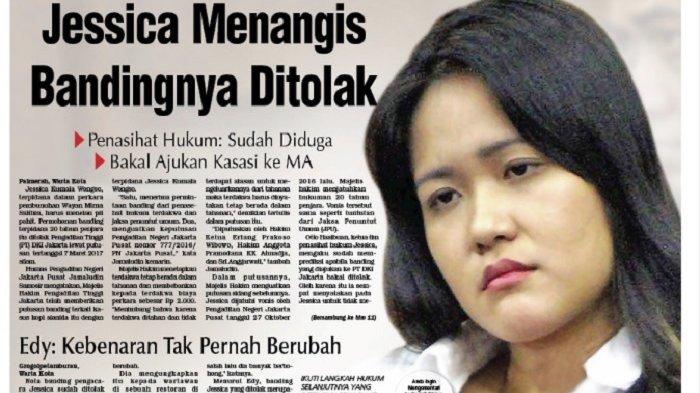 Kepala Rutan Pastikan Jessica Kumala Wongso Meringkuk di Tahanan