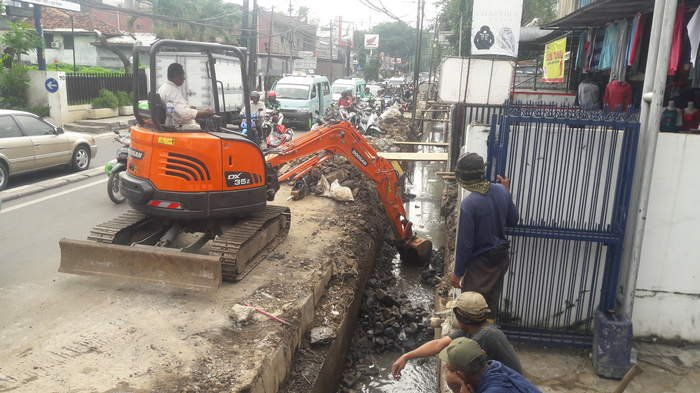 Perhatikan Ada Pengalihan Arus Lalu Lintas di Kawasan Jalan Palmerah I Jakarta Barat