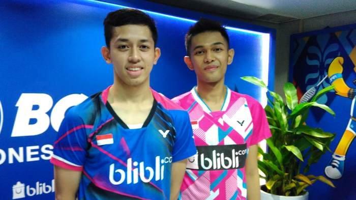 Pasangan ganda putra Indonesia, Fajar Alfian dan Muhammad Rian Ardianto.