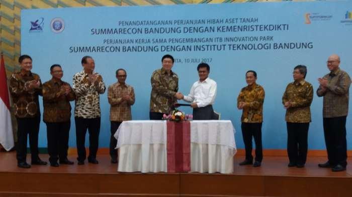 Summarecon Hibahkan Lahan Satu Hektar untuk Bangun Taman Tekno di Bandung