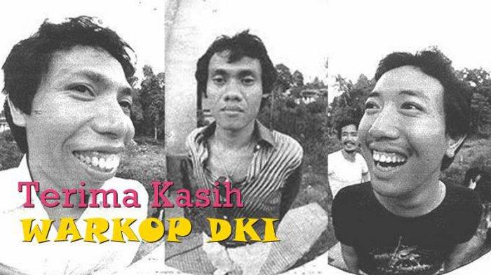 Almarhum Dono dan Kasino, serta Indro bersama Warkop DKI.