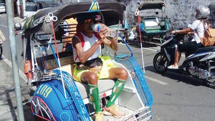 Pelari Maraton Segudang Prestasi Sekarang Pengayuh Becak, Bulan Besok Ikut Lomba di Chile