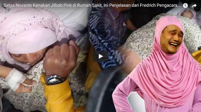 Viral, Setya Novanto Pakai Kerudung Pink Alasannya Seperti Ini