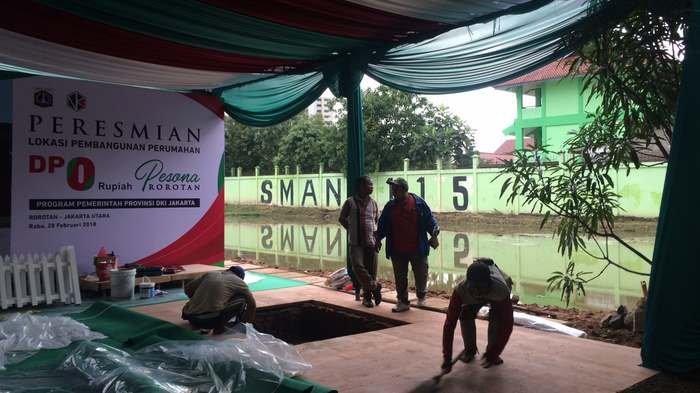 Anies-Sandi Batal Groundbreaking Rumah DP Nol Rupiah di Rorotan