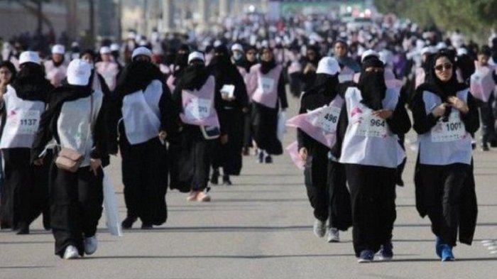 Pertama Kali di Arab Saudi, Perempuan Ikut Lomba Marathon