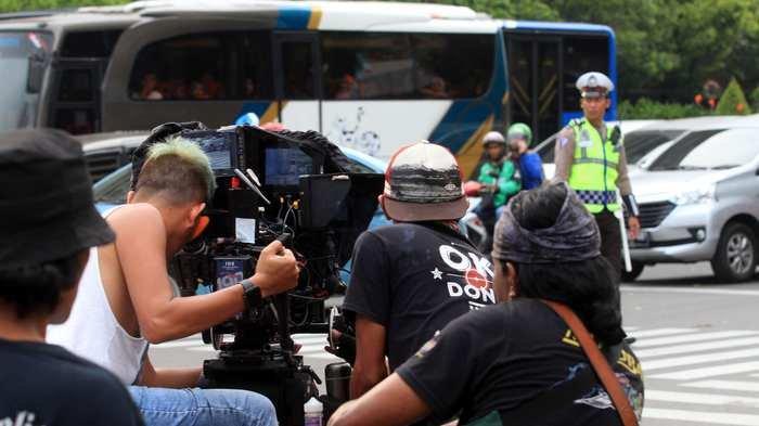 BERITA FOTO: Syuting Film Serangan Teroris Ingat Peristiwa Bom Sarinah