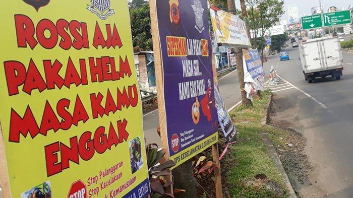 Pesan Keselamatan Menggelitik dan Tarik Perhatian di Pasang Polres Bogor