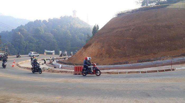 Bekas Tanah Longsor di Puncak Pass Ditargetkan Dapat Normal Dilalui H-10 Lebaran