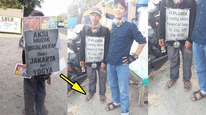 Mudik Jakarta-Jogja Ditempuh dengan Jalan Kaki, Ada yang Mencibir Gara-gara ini