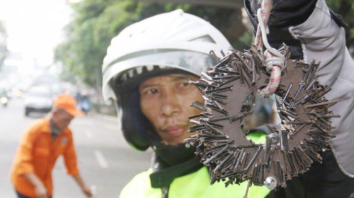Polisi Tangkap Pelaku Penyebar Ranjau Paku di Sepanjang Jalan MT Haryono hingga Gatot Subroto