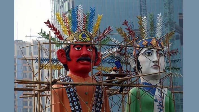 BERITA FOTO: Ondel-ondel pun Dipoles untuk Sambut Asian Games 2018
