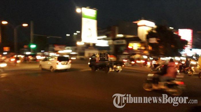 Terpantau Arus Lalin di Simpang Warung Jambu Plaza Kota Bogor Ramai Lancar