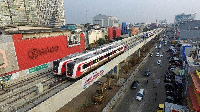 BERITA FOTO: LRT Rute Kelapa Gading-Velodrome Rawamangun Disiapkan untuk Asian Games