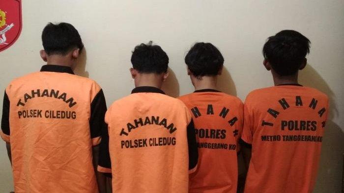 Komplotan Remaja Ayunkan Pedang Rampok Korbannya di Tangerang